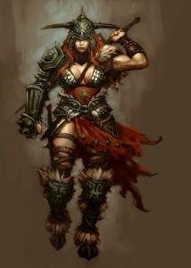 Diablo3 Female Barbarian